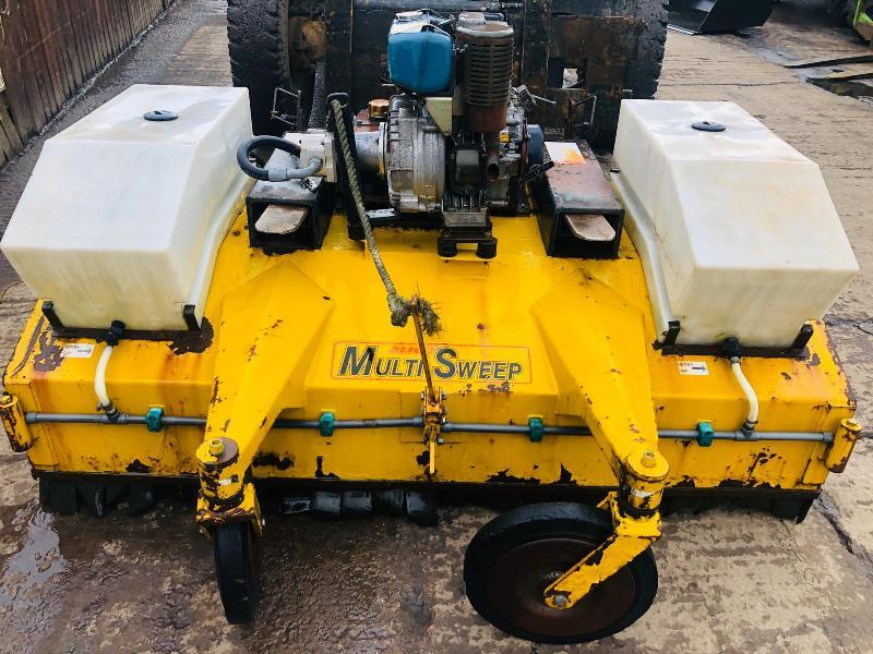 MULT SWEEP 425 ROAD BRUSH C/W ENGINE & WATER TANKS