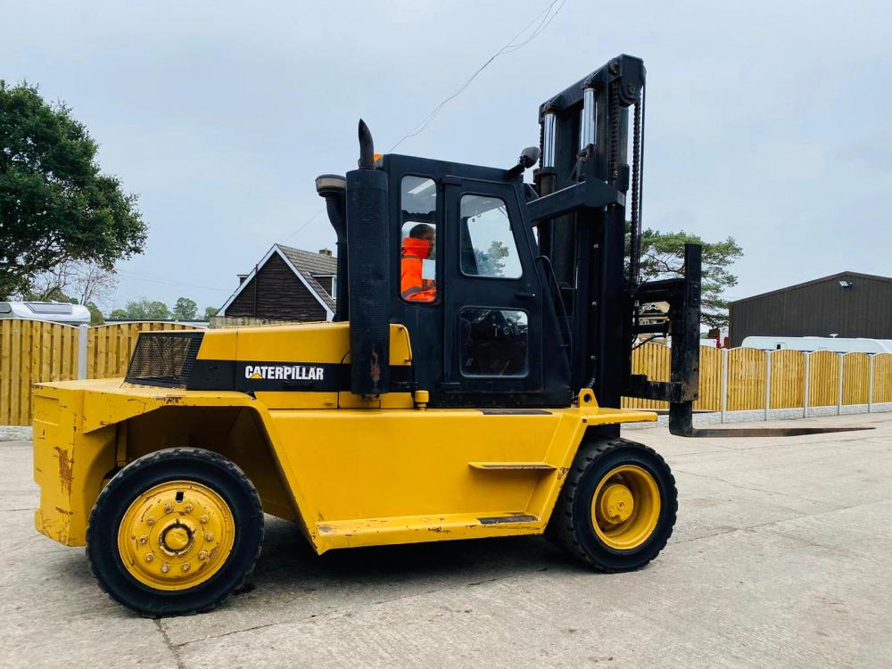 CATERPILLAR V225C 12 TON FORKLIFT C/W HYDRAULIC TINE POSITIONING *PLEASE SEE VIDEO*