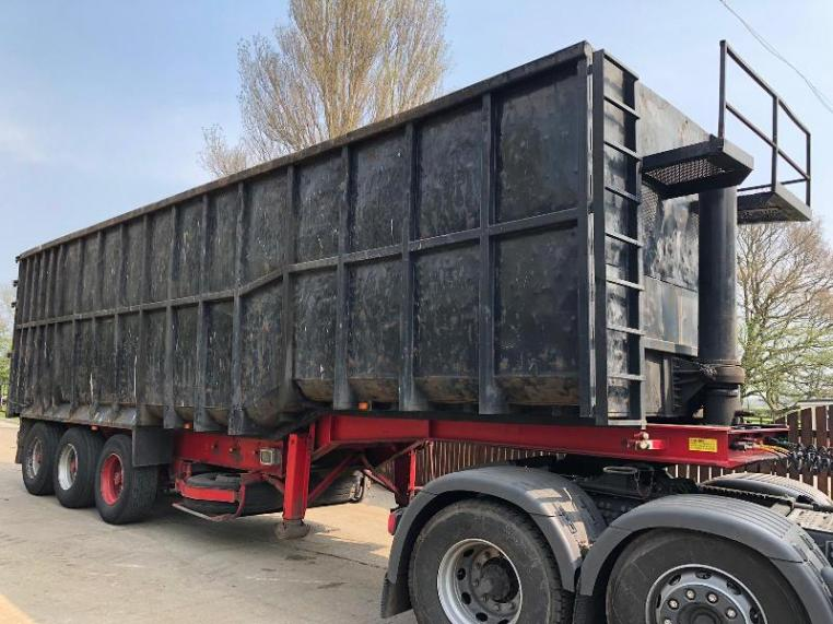 SWAN, SWAN NECK SCRAP BULKER TRAILER