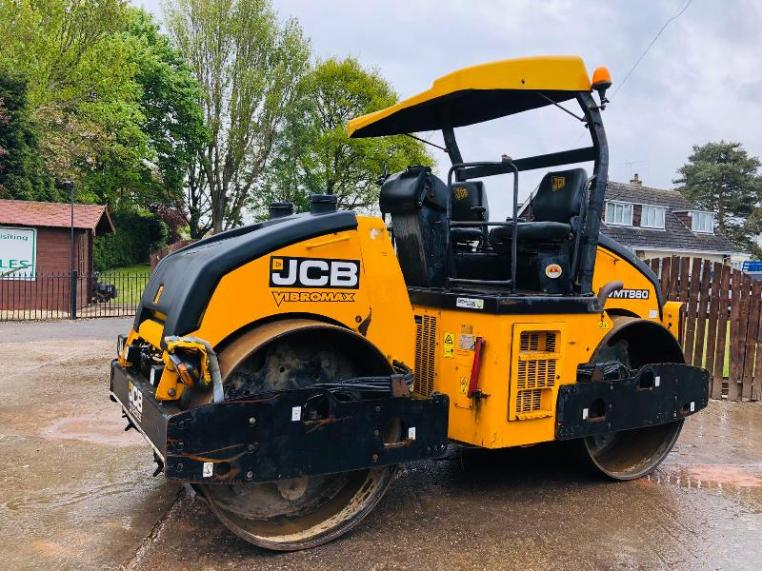 JCB VIBROMAX VMT860 DOUBLE DRUM ROLLER * YEAR 2011 * C/W DUAL CONTROLS