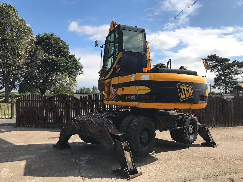 JCB JS130W HIGH RISED CAB WHEELED EXCAVATOR ( PLEASE SEE VIDEO )