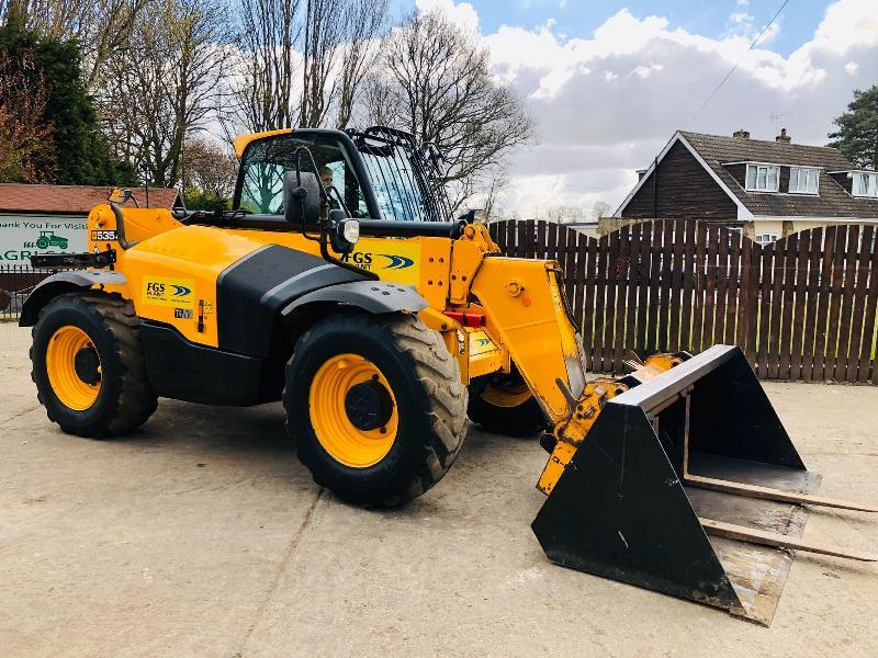 JCB 535-95 TURBO TELEHANDLER * YEAR 2017 * ONE OWNER FROM NEW *PLEASE SEE VIDEO*
