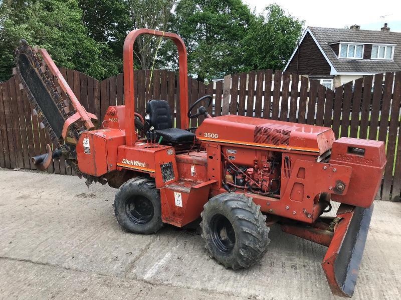 DITCH WITCH 3500 4 WHEEL STEER TRENCHER