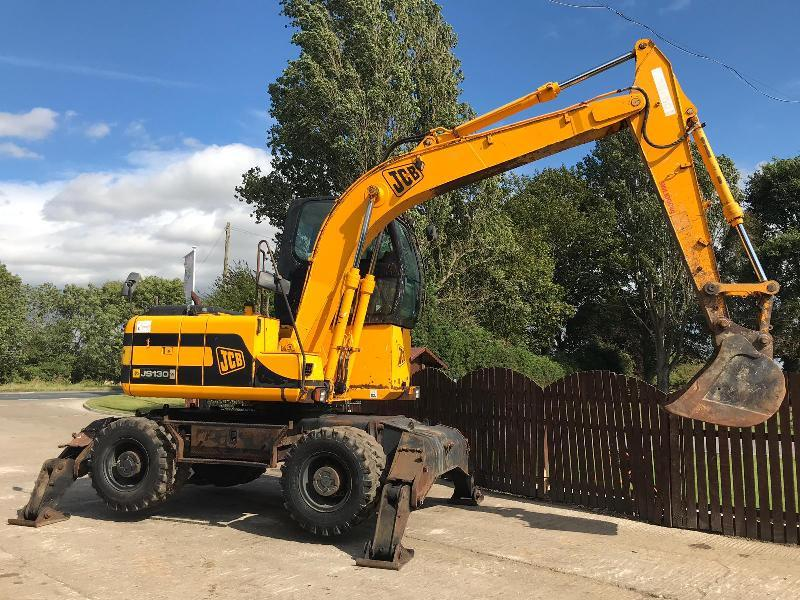Jcb Js130w High Rised Cab Wheeled Excavator   Please See