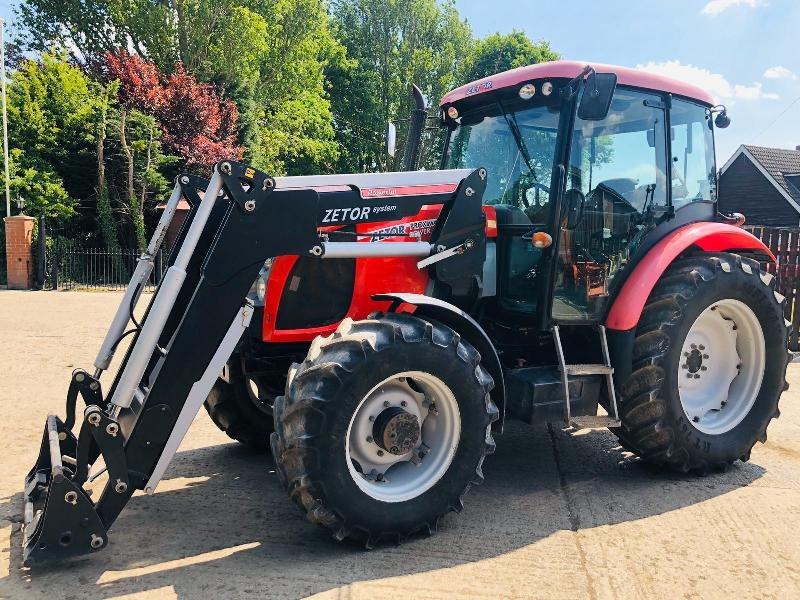 ZETOR PROMIXMA 105 4WD TRACTOR * YEAR 2009 * C/W ZETOR SYSTEM LOADER
