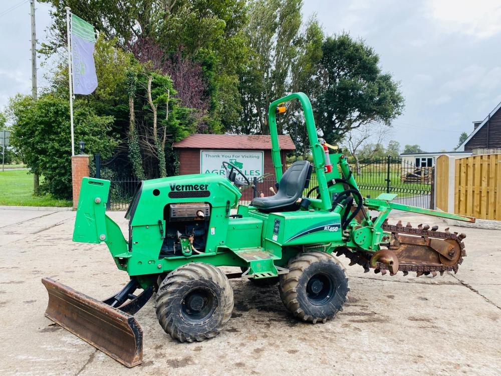 VERMWEER RT450 4WD TRENCHER C/W FRONT WEIGHTS & BLADE * YEAR 2012 * SEE VIDEO *