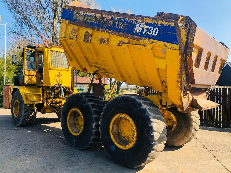 MOXY MT30 6X6 ARTICULATED DUMPER C/W REVERSE CAMERA & BACK DOOR  * PLEASE SEE VIDEO *
