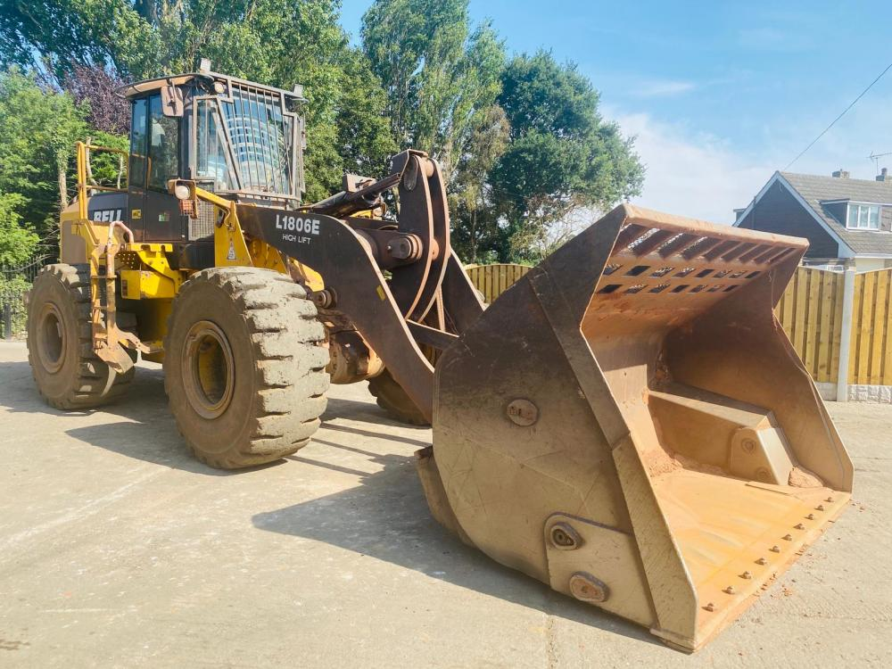 BELL L1806E HIGH TIP LOADING SHOVEL * YEAR 2011 * C/W TOE TIP BUCKET *SEE VIDEO*
