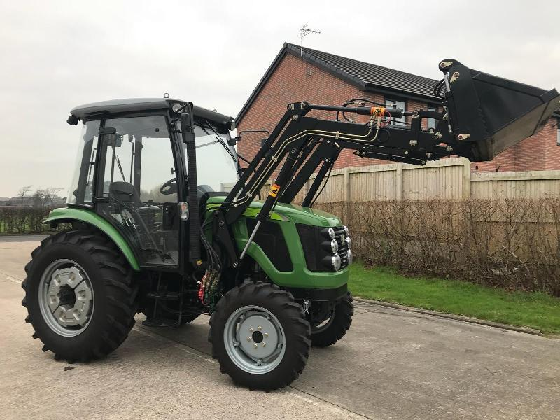 ** BRAND NEW SIROMER 504 4WD TRACTOR WITH SYNCHRO CAB AND LOADER YEAR 2019 **