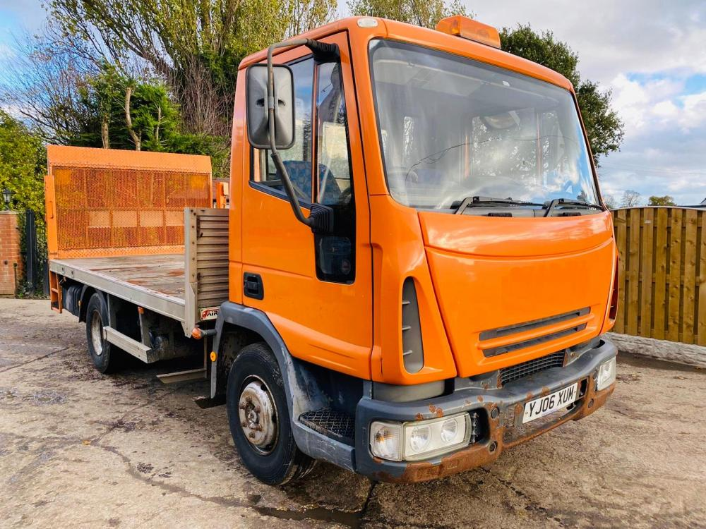 IVECO 4X2 FLAT BED LORRY * YEAR 2006 * C/W TAIL LIFT