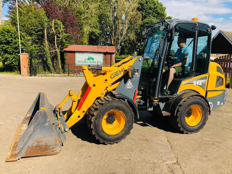 GEHL 540 LOADING SHOVEL * YEAR 2018 ONLY 676 HOURS *