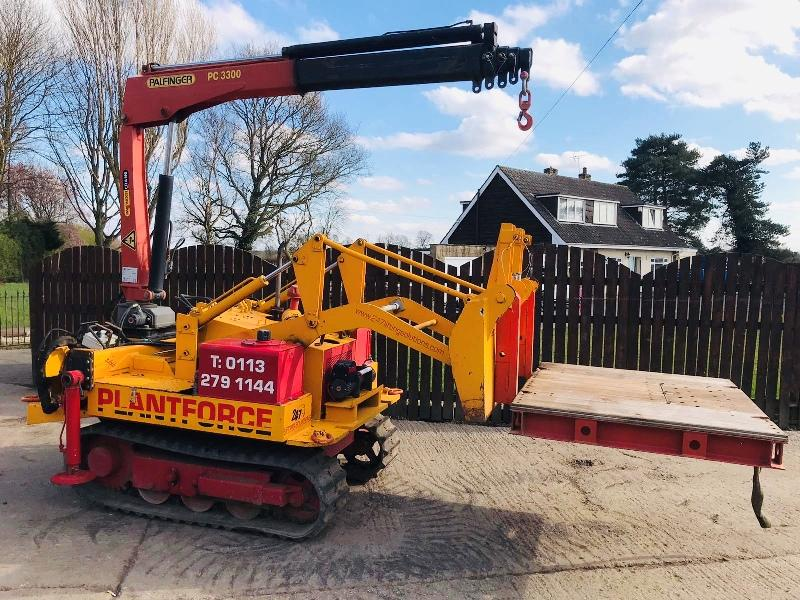 MOROOKA MS25 TRACKED DOZZER C/W PALFINGER PC3300 CRANE *PLEASE SEE VIDEO*