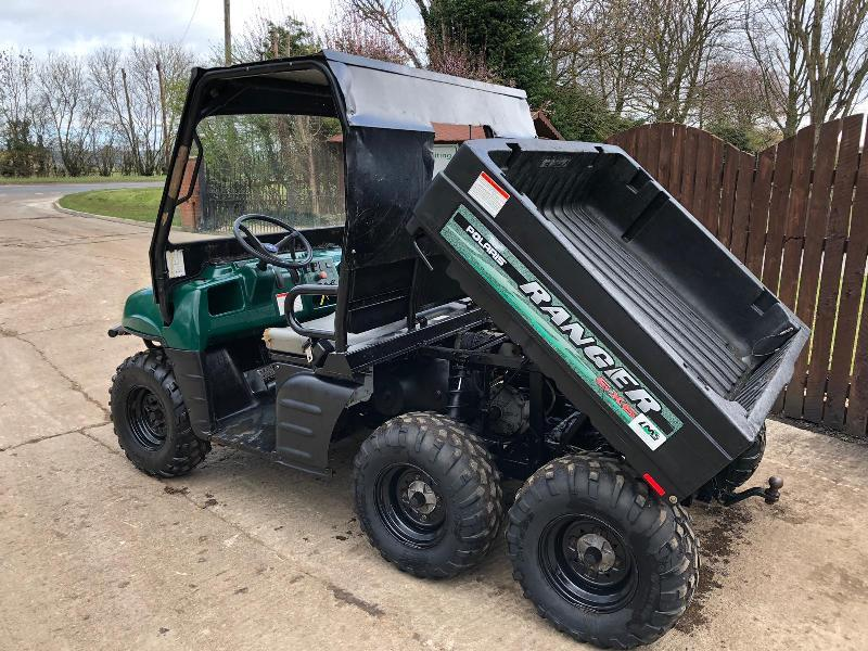 POLARIS RANGER 6X6 UTILITY VEHICLE ** ONLY 405 HOURS **