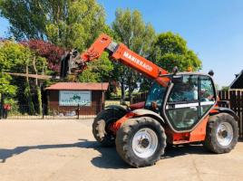 MANITOU MLT730-120LSU TURBO TELEHANDLER YEAR 2002 C/W PICK UP HITCH * SEE VIDEO *