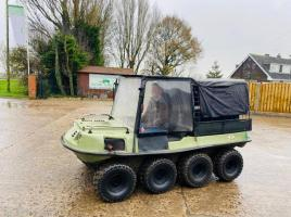 ARGO 8WD AMPHIBIOUS UTV C/W CANOPY AND REAR SEATING AREA