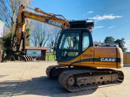 CASE CX130 TRACKED EXCAVATOR C/W GRAPPLE GRAB