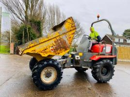 NEUSON 6001 4WD DUMPER *YEAR 2006* C/W ROLE BAR * SEE VIDEO *