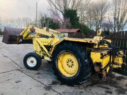 FORD 4000 INDUSTRIAL TRACTOR C/W POWER LOADER & BUCKET