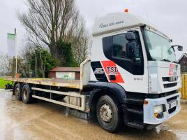 IVECO 330 4X2 FLAT BED LORRY C/W REAR STEER