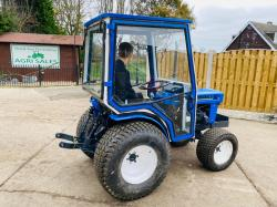 ISEKI 2140 4WD COMPACT TRACTOR C/W FULLY GLAZED CABIN & TURF TYRES