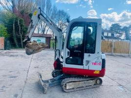 TAKEUCHI TB016 TRACKED EXCAVATOR * YEAR 2009 , ONLY 3489 HOURS * C/W EXPANDING TRACKS