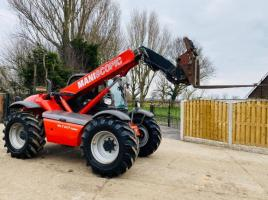 MANITOU MLT627 TURBO TELEHANDLER *AG-SPEC* C/W PICK UP HITCH