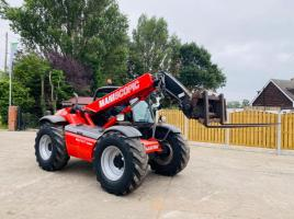 MANITOU MLT627 TURBO TELEHANDLER * YEAR 2013 AG-SPEC * C/W PICK UP HITCH