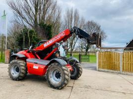 MANITOU MLT627 TURBO TELEHANDLER *AG-SPEC* YEAR 2008 C/W PUH