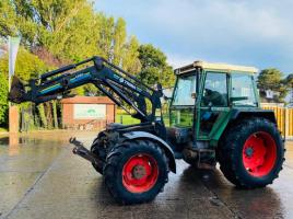 FENDT F380GT 4WD TOOL CARRIER TRACTOR C/W FRONT LINKAGE , PTO & TRIMA LOADER