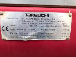 TAKEUCHI TB175 WHEELED EXCAVATOR ( YEAR 2011 ) * PLEASE SEE VIDEO *