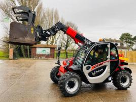 MANITOU MT625H TURBO 4WD TELEHANDLER *YEAR 2019 ONLY 673 HOURS* C/W GRAPPLE BUCKET