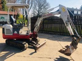 TAKEUCHI TB016 MINI DIGGER * YEAR 2010 * C/W EXPANDING TRACKS *PLEASE SEE VIDEO*