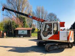 HITACHI EX60 LCT-3 TRACKED CRANE C/W DOUBLE PUSH OUT BOOM