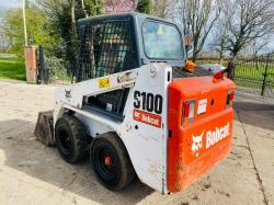 BOBCAT S100 SKID STEER * YEAR 2014 , ONLY 1825 HOURS * C/W BUCKET
