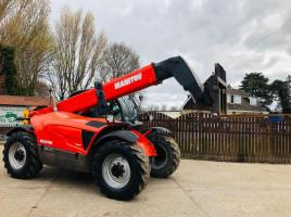 MANITOU MT 835 TURBO TELEHANDLER * YEAR 2014 * C/W 8 METER REACH BOOM *SEE VIDEO*