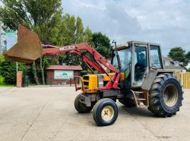 RENAULT 95.12 4WD TRACTOR C/W FRONT LOADER & BUCKET
