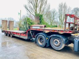 KING GTS48-3 TRI-AXLE LOW LOADER TRAILER * YEAR 2008 , IN TEST *