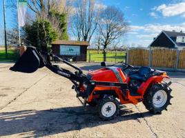 KUBOTA ASTE A.15 4WD TRACTOR C/W FRONT LOADER & BUCKET
