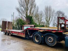 KING GTS48 TRI-AXLE LOW LOADER TRAILER * YEAR 2008 , IN TEST *