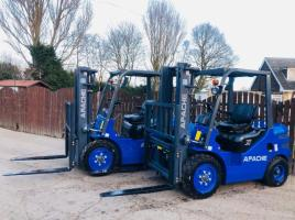 BRAND NEW UNUSED APACHE HH30Z DIESEL FORKLIFT C/W SIDE SHIFT * CHOICE OF TWO *
