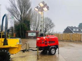 TOWABLE 7 TIER TOWER LIGHT * ONLY 1485 HOURS * C/W GENERATOR