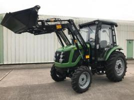 ** BRAND NEW SIROMER 504 4WD TRACTOR WITH SYNCHRO CAB AND LOADER YEAR 2021 **