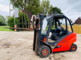 LINDE H35D-2 DIESEL FORKLIFT *YEAR 2014* C/W HYDRAULIC ROTATING TINES