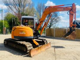 HITACHI EX80U TRACKED EXCAVATOR * ONLY 3624 HOURS C/W BLOCK PAD TRACKS