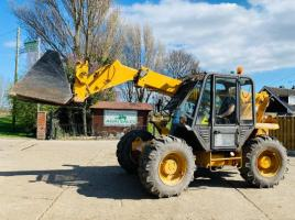 JCB 525-67 4WD TELEHANDLER *AG-SPEC , 7 METER REACH * C/W PICK UP HITCH , BUCKET & TINES