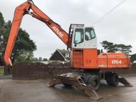 ATLAS 1704 HIGH RISED WHEELED SCRAP HANDLER C/W FITTED MAGNET GEAR