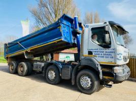 RENAULT 430 DOUBLE DRIVER TIPPER LORRY * YEAR 2012 * C/W STEEL TIPPER BODY