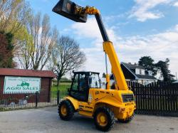 JCB 520-50 FARM SPECIAL TELEHANDLER C/W PICK UP HITCH * ONLY 6348 HOURS * SEE VIDEO *