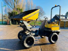 THWAITES 3 TON HIGH LIFT , SWIVEL TIP DUMPER C/W 3 CYLINDER PERKINS ENGINE