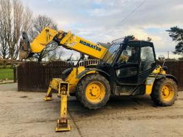 KOMATSU WH613 13 METER TURBO TELEHANDLER C/W FRONT SUPPORT LEGS *PLEASE SEE VIDEO*